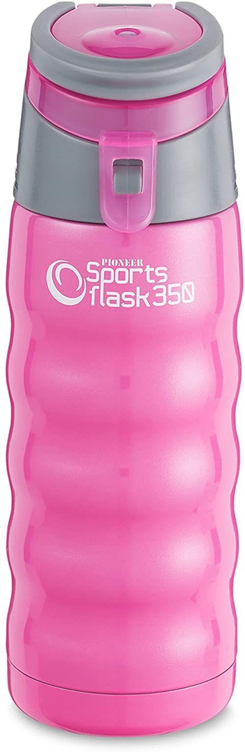 Pioneer Flasks Piersiówka sportowa, stal nierdzewna, różowy żelowy, 350 ml