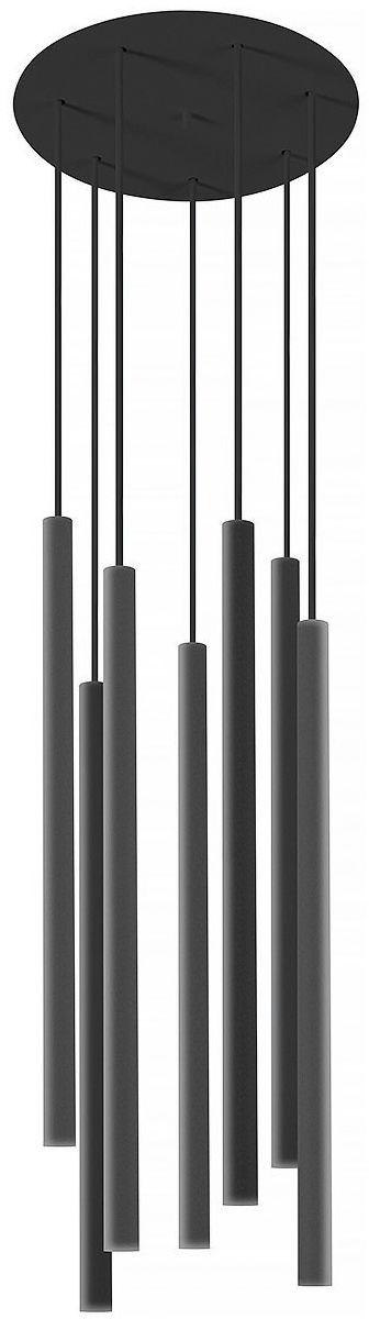 Żyrandol Laser 8920 Nowodvorski Lighting czarna oprawa w nowoczesnym stylu