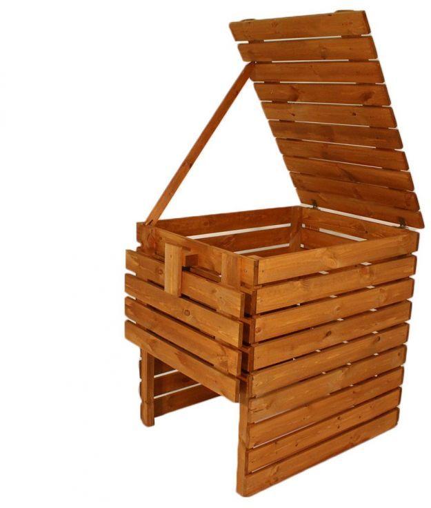 Kompostownik ogrodowy drewniany - 800l