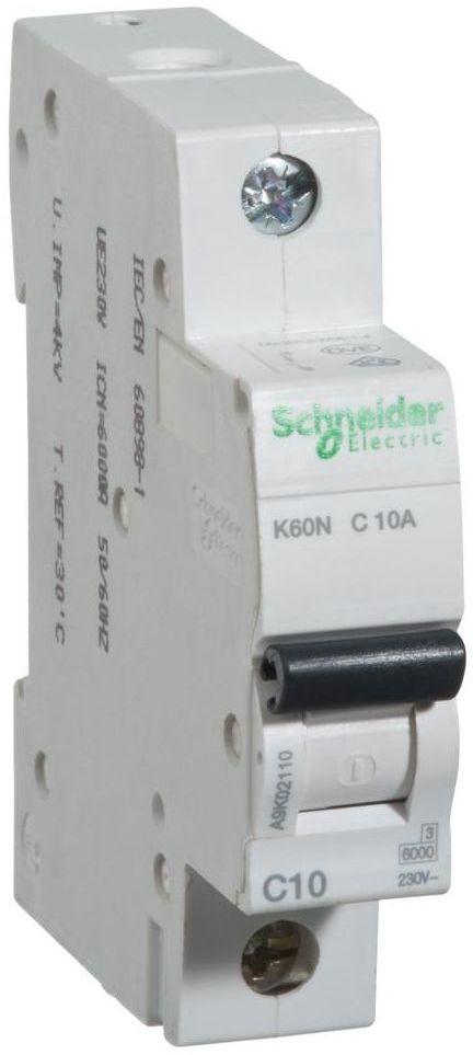 Wyłącznik nadprądowy K60N - C10 - 1 10 A SCHNEIDER ELECTRIC