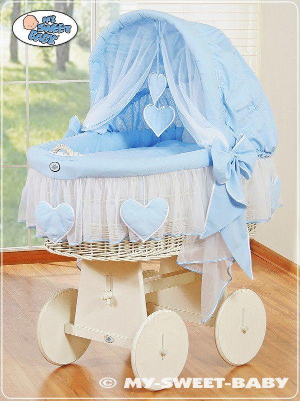 Kosz Mojżesza błękitna Amelia 78962134-My Sweet Baby, kosz dla niemowlaka
