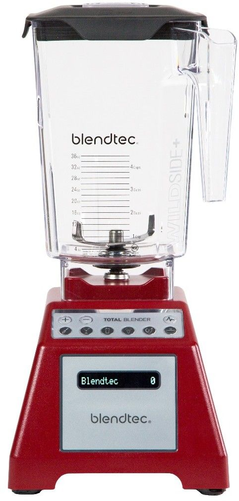 Blender kielichowy Blendtec Total Blender czerwony --- OFICJALNY SKLEP Blendtec