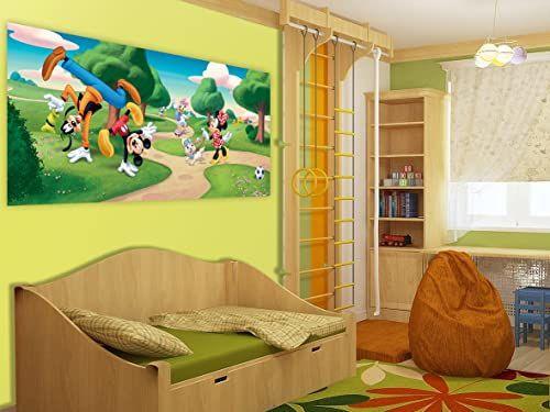 Disney Junior Mickey Mouse Minnie Disney fototapeta do pokoju dziecięcego, papieru, wielokolorowa, 0,1 x 202 x 90 cm