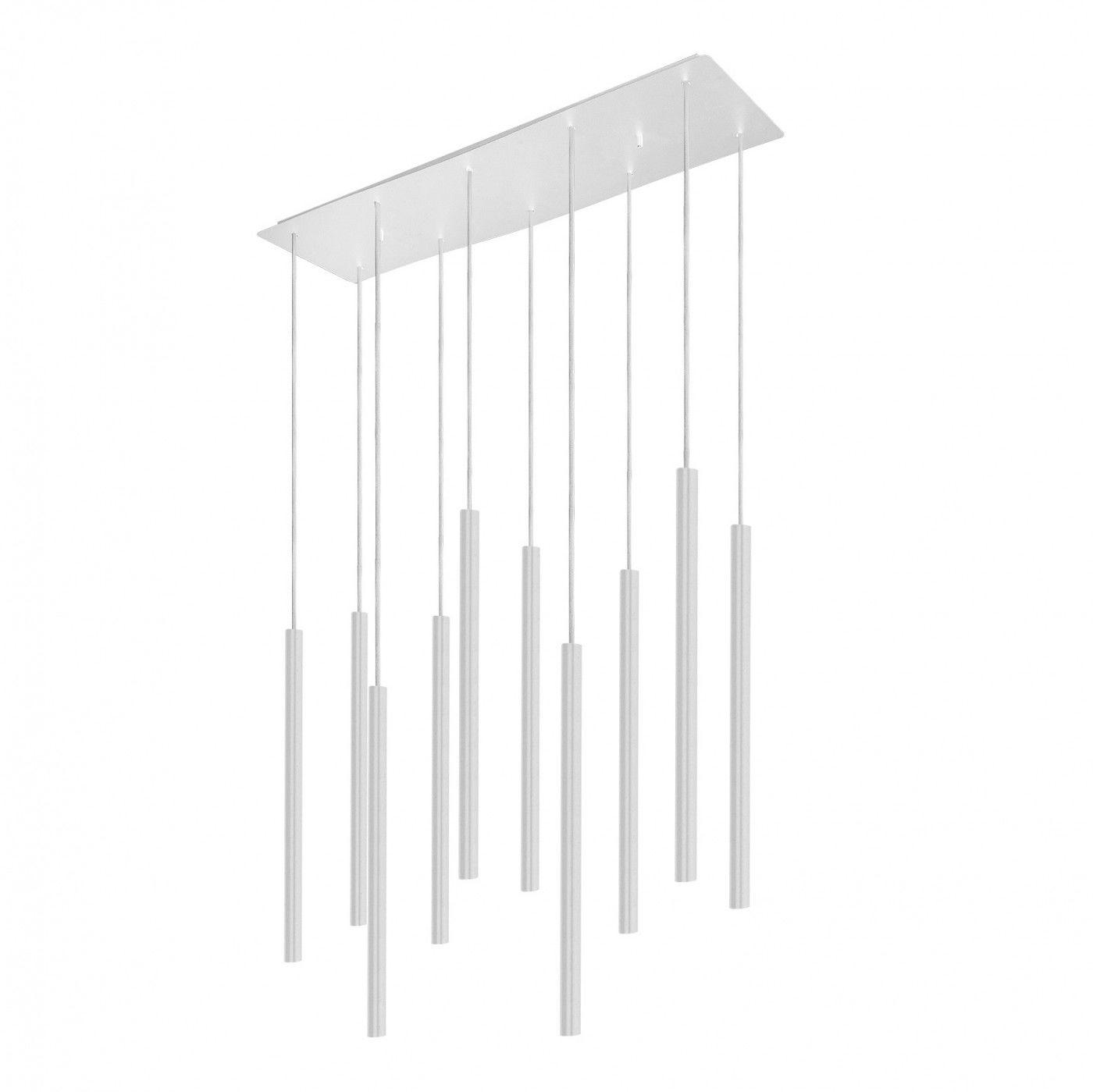 Żyrandol Laser 8922 Nowodvorski Lighting podłużna biała oprawa nad stół