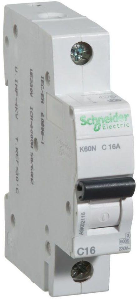 Wyłącznik nadprądowy K60N - C16 - 1 16 A SCHNEIDER ELECTRIC