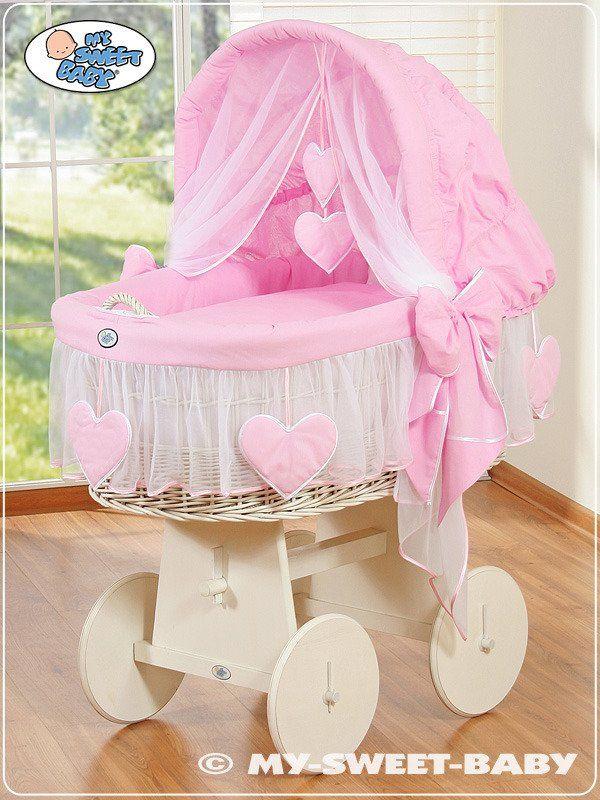Kosz Mojżesza różowa Amelia 78962122-My Sweet Baby, kosz dla niemowlaka