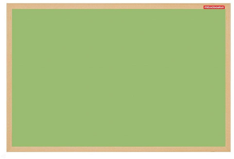 Tablica suchośiceralno-magnetyczna 60x90 zielona drewno Memoboards