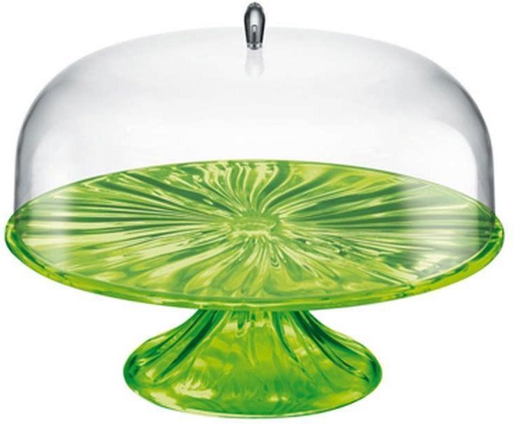 Guzzini - aqua - patera na ciasto 33,40 cm, zielona
