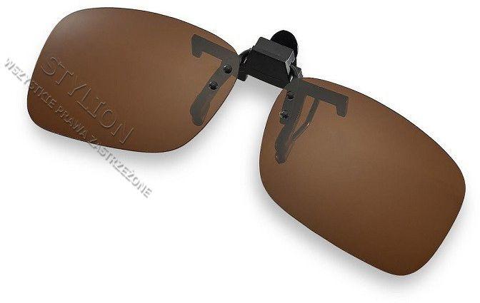 Nakładki polaryzacyjne na okulary korekcyjne - brązowe NA-154