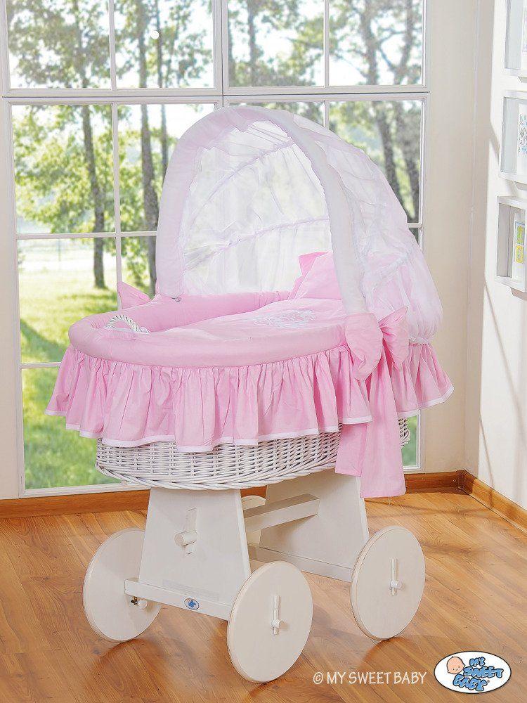 Kosz Mojżesza różowy Glamour 78962422-My Sweet Baby, kosz dla niemowlaka