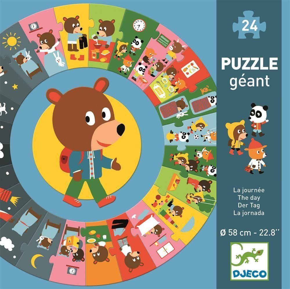 """Puzzle kartonowe gigant """"DZIEŃ"""" DJ07015- Djeco, puzzle dla dzieci"""