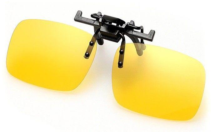 Nakładki polaryzacyjne na okulary korekcyjne - zolte rozjasniajace
