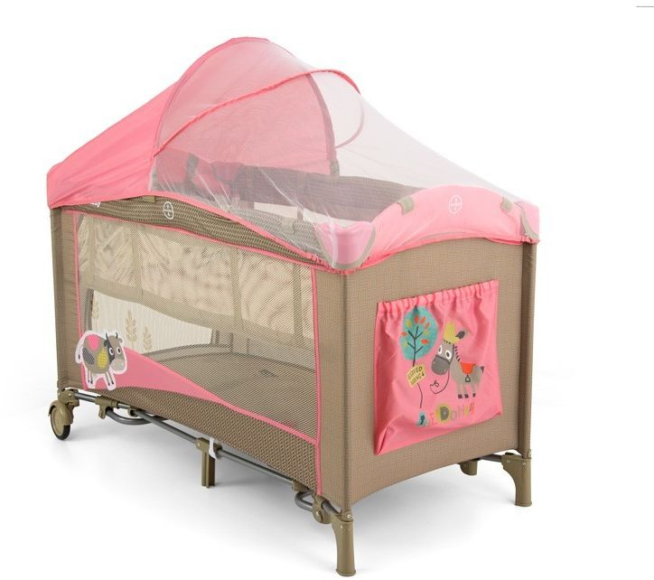 Łóżeczko Milly Mally Mirage De Luxe Pink Cow