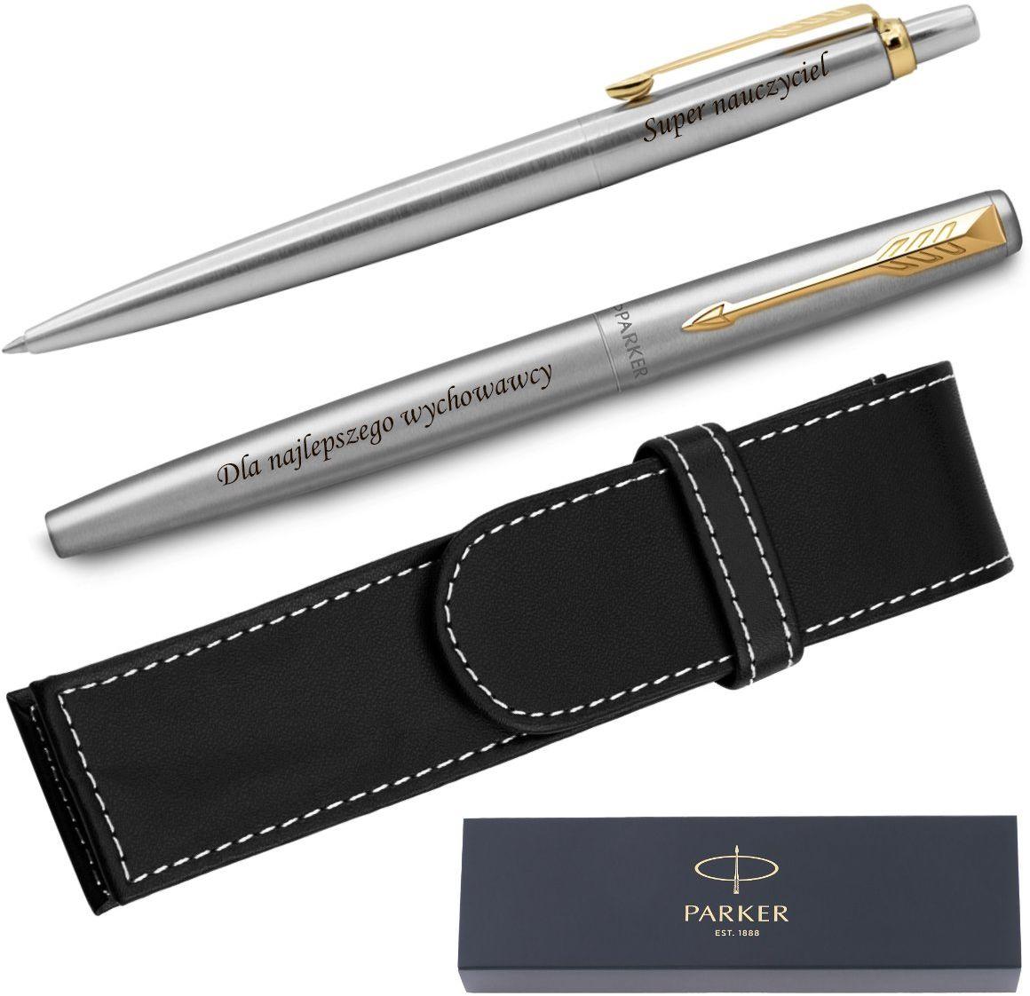 Zestaw Pióro + Długopis Parker Jotter GT + Etui Grawer