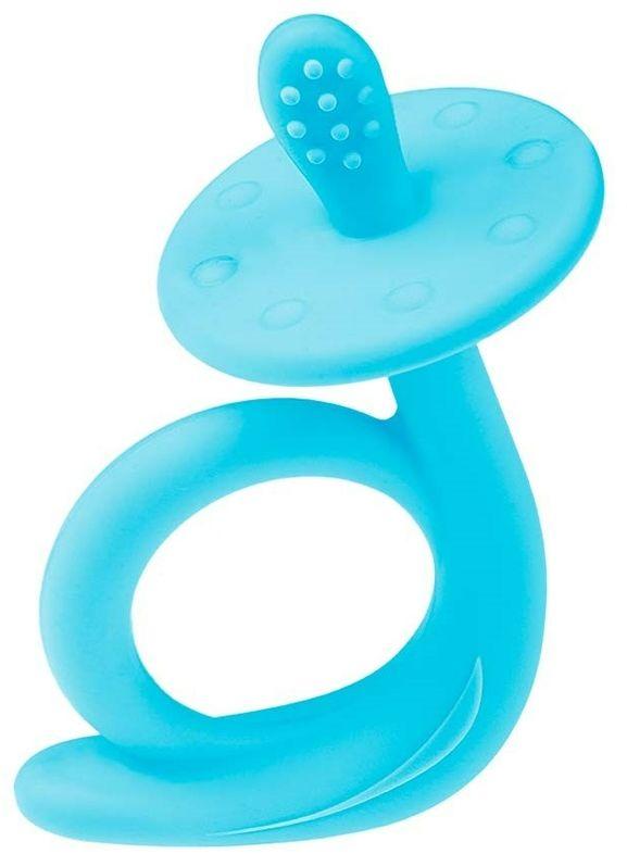 Akuku Dziecięcy gryzak silikonowy Ślimaczek niebieski, 9,5 x 7 x 5 cm