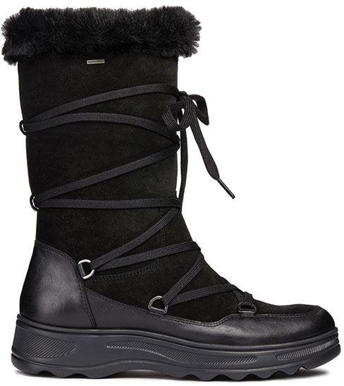 Śniegowce damskie D HOSMOS B ABX czarneD84AUB02285C9999