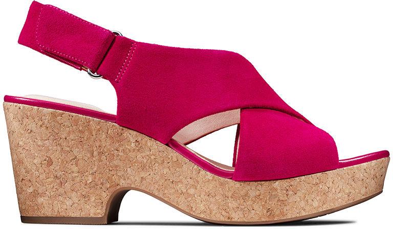 Sandały damskie Clarks Maritsa Lara czerwone261479264