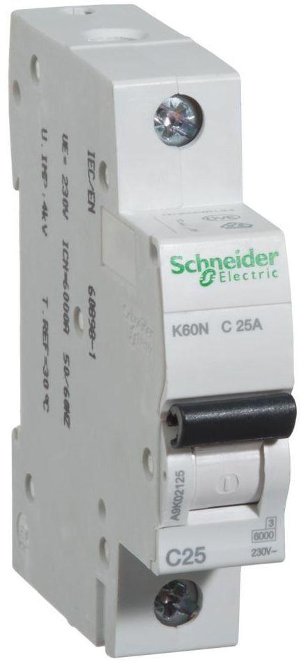 Wyłącznik nadprądowy K60N - C25 - 1 25 A SCHNEIDER ELECTRIC