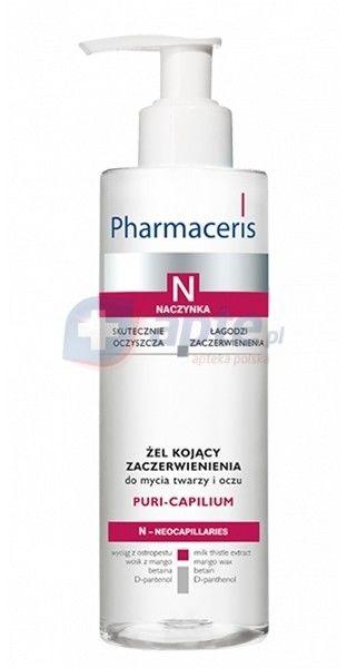 Pharmaceris, N Puri-Capilium, Żel kojący zaczerwienienia do mycia twarzy i oczu, 190 ml