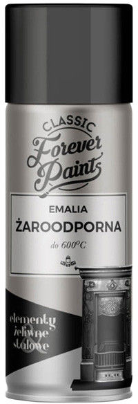 Emalia żaroodporna do 600 C Forever Paints 400 ml czarna
