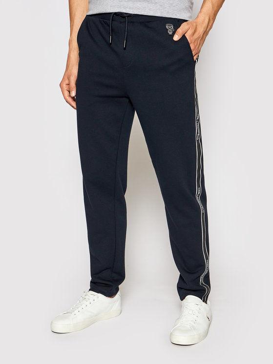 KARL LAGERFELD Spodnie dresowe 705022 511900 Granatowy Regular Fit