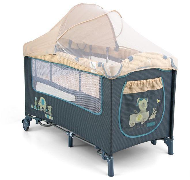 Łóżeczko Milly Mally Mirage De Luxe Blue Toys