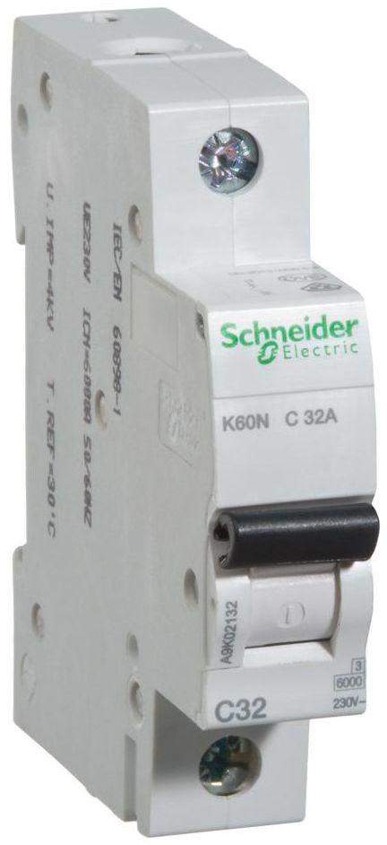 Wyłącznik nadprądowy K60N - C32 - 1 32 A SCHNEIDER ELECTRIC