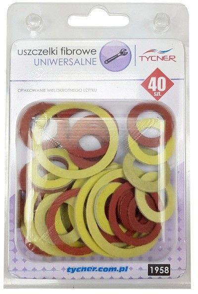 Zestaw uszczelek fibra 40 elementów