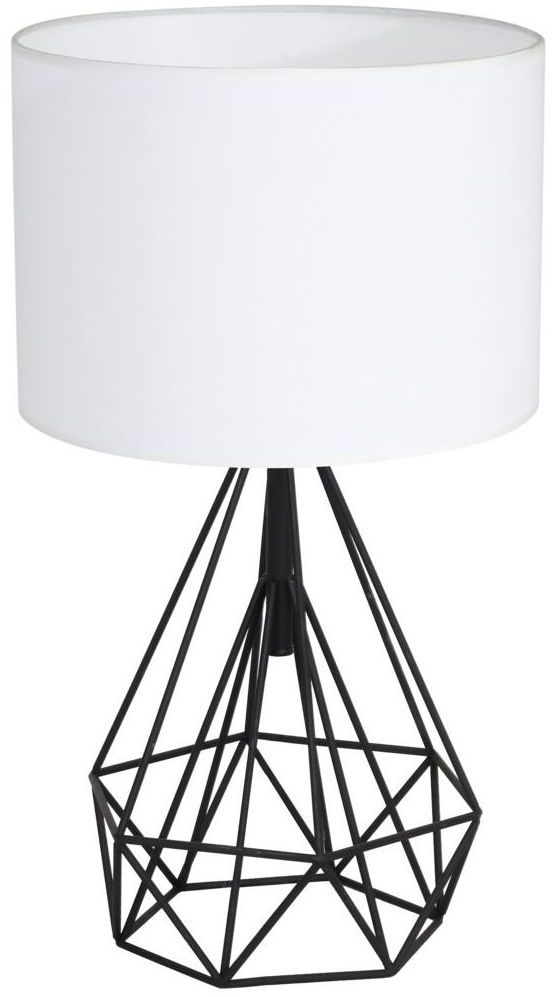 Lampa stołowa Triangolo czarno-biała E27 Milagro