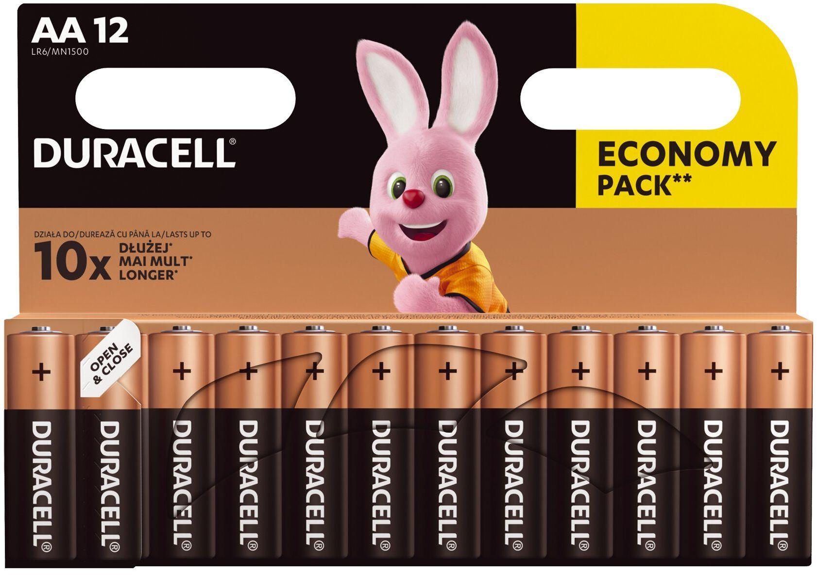 12 x bateria alkaliczna Duracell Basic LR6 AA (blister)