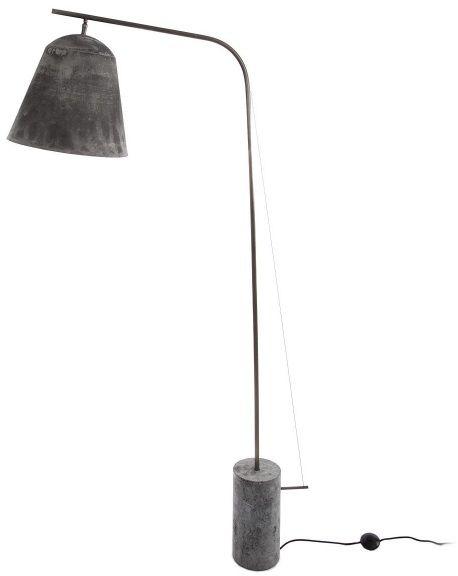 LINE TWO Grey Lampa podłogowa