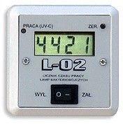 Ultraviol Licznik z wyłącznikiem L-02 Licznik naścienny z wyłącznikiem i z wyświetlaczem 4-polowym LCD