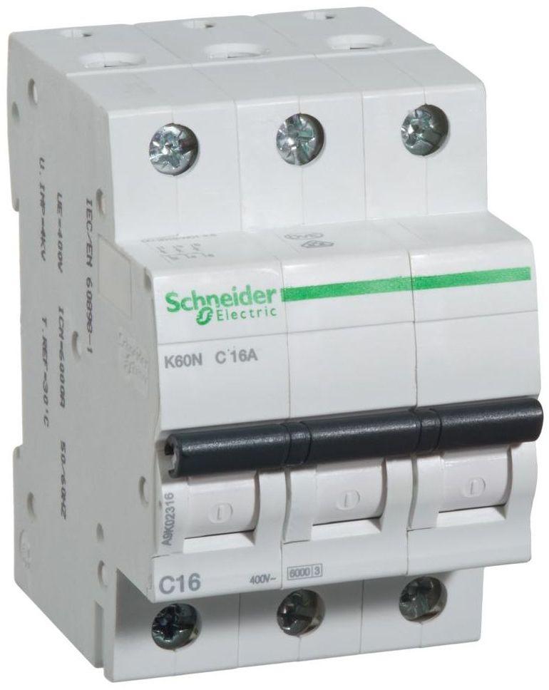 Wyłącznik nadprądowy K60N - C16 - 3 16 A SCHNEIDER ELECTRIC