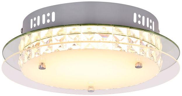 Globo MATARO 49344-18R plafon lampa sufitowa srebrna chrom LED 18W 3000K 28cm