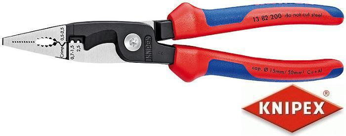 szczypce 6-cio funkcyjne dla elektroinstalatorów KNIPEX [13 82 200]