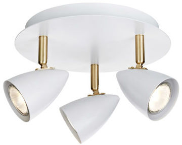 Markslojd plafon lampa sufitowa Ciro 106319 biała/mosiądz 23,5cm