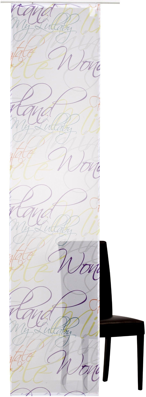 Elbersdrucke Script 04 zasłona przesuwna, poliester, kolorowa, 245 x 60 cm