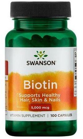 Swanson Biotin 5000mcg 100cap.