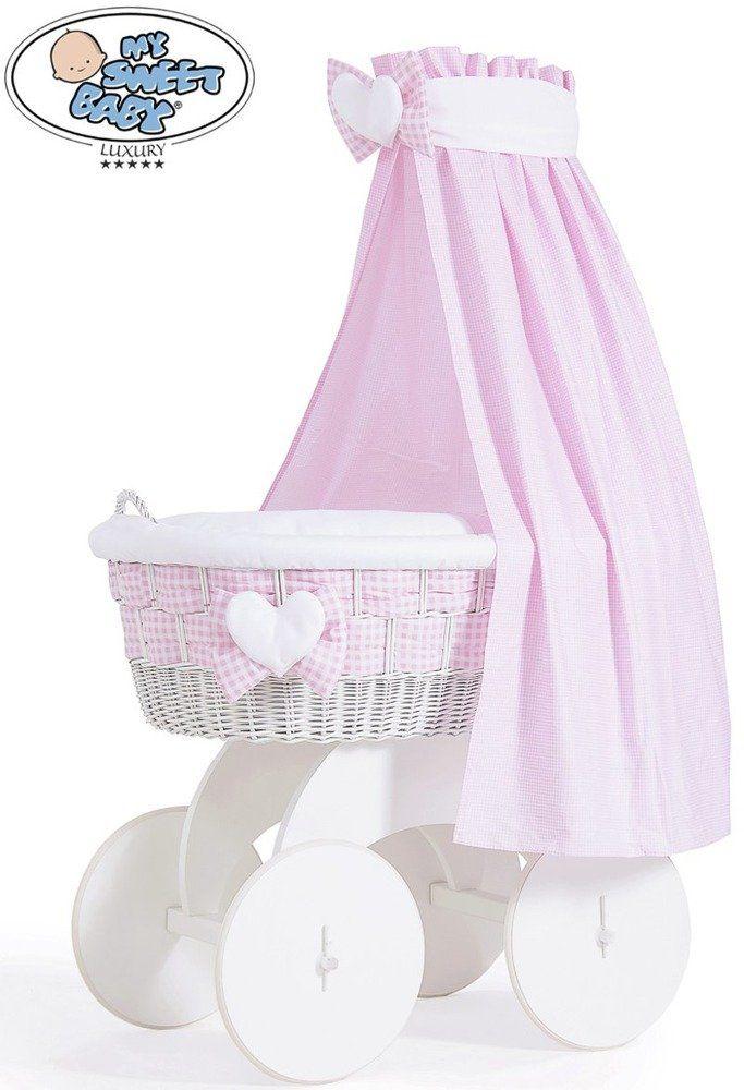 Kosz Mojżesza Isabella z baldachimem 70202908-My Sweet Baby, kosz dla niemowlaka