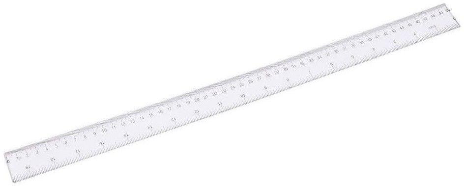 Linijka - 50 cm - transparentna