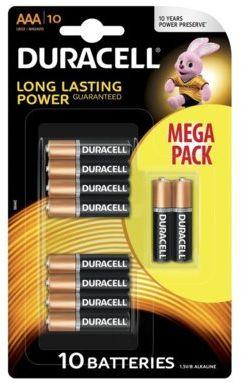 Baterie DURACELL Basic AAA Mega Pack 10szt.. > DARMOWA DOSTAWA ODBIÓR W 29 MIN DOGODNE RATY