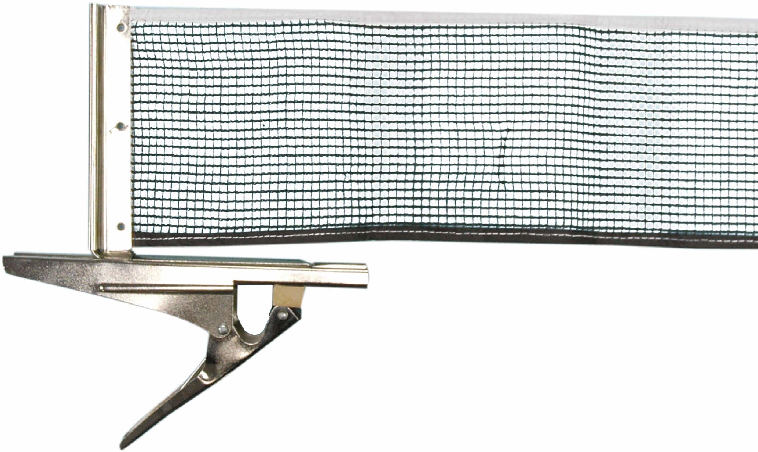 Donic-Schildkröt siatka do tenisa stołowego, nylon, z szybkomocującymi klipsami mocującymi, maksymalna grubość stołu 4,0 cm, w etui, 808335