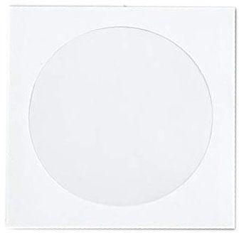 Koperta z okienkiem na płyty CD/DVD HEITECH 100 szt.