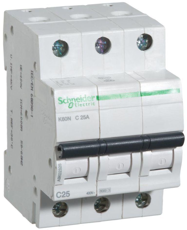Wyłącznik nadprądowy K60N - C25 - 3 25 A SCHNEIDER ELECTRIC