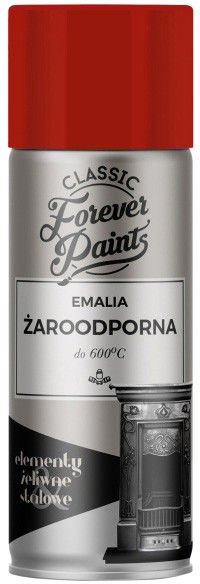 Emalia żaroodporna do 600 C Forever Paints 400 ml czerwona