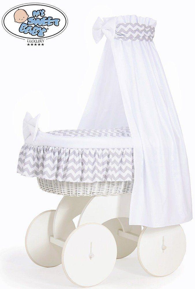 Kosz Mojżesza Hannah z baldachimem 70202902-My Sweet Baby, kosz dla niemowlaka