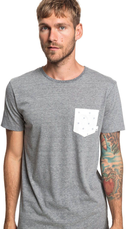 t-shirt męski QUIKSILVER BROKEN LEASH Iron Gate - KZM0