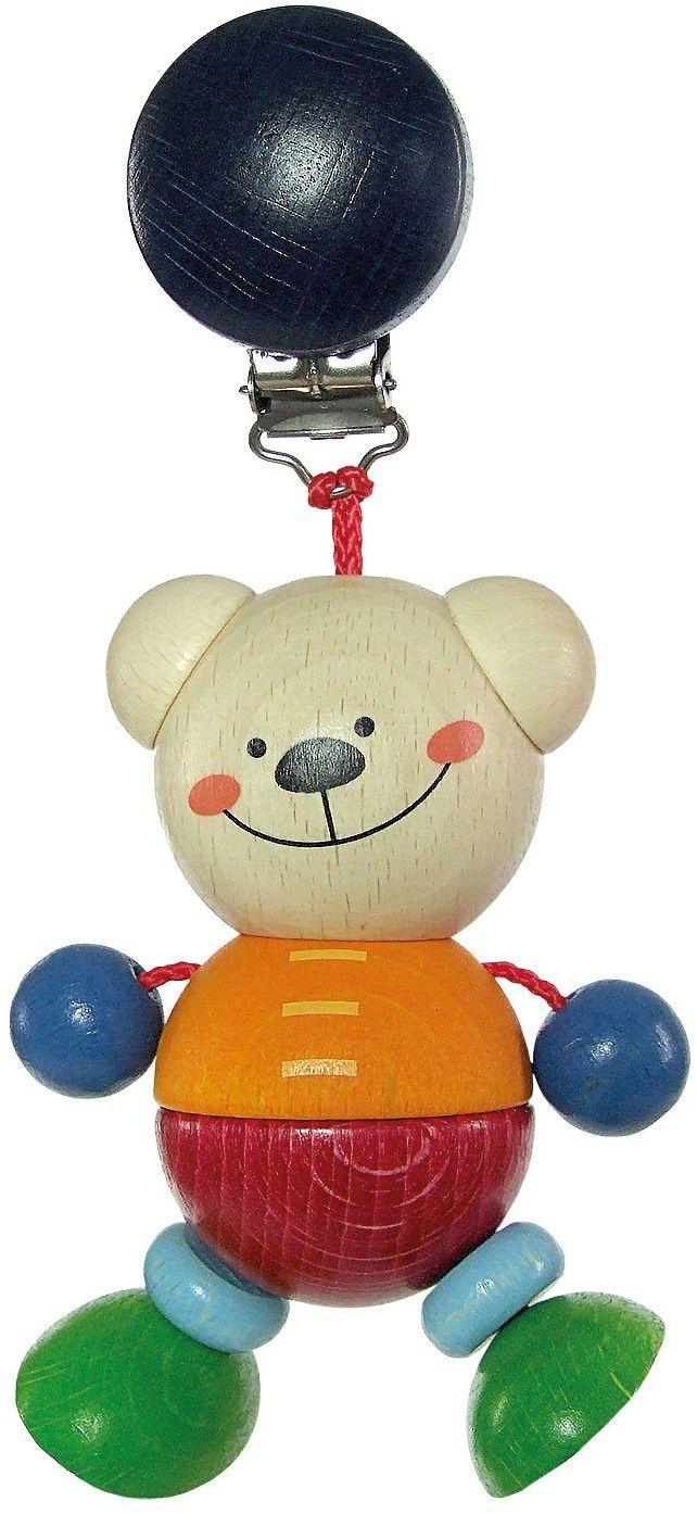 Hess Drewniana figurka dziecko łańcuszek niedźwiedź Henry klips