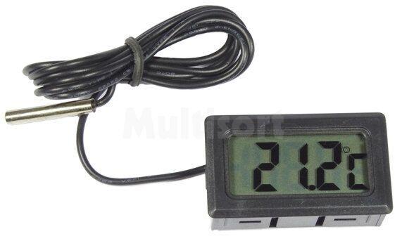 Panelowy termometr z czujnikiem zewn. od od -50 C do 100 C