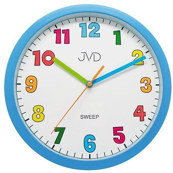 Zegar ścienny JVD HA46.1 Kolorowy, cichy - odcienie niebieskiego wielokolorowy